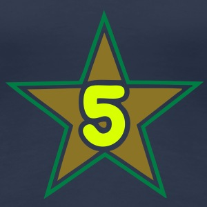 5 five numero number star etoile Tee shirts - T-shirt Premium Femme
