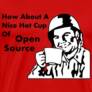How About A Nice Hot Cup Of OPEN SOURCE T-shirt - Maglietta Premium da uomo
