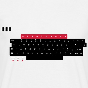 BBC Micro Computer Keyboard Layout T-Shirts - Men's T-Shirt