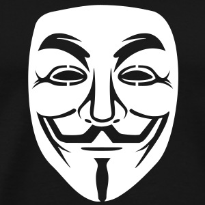 Anonymous / masque de Guy Fawkes 1clr Tee shirts - T-shirt Premium Homme