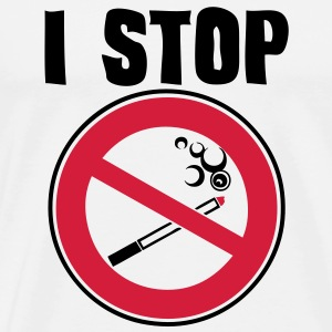 i stop smoking panneau interdiction Tee shirts - T-shirt Premium Homme