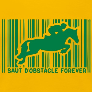 code barre saut obstacle cheval monte1 Tee shirts - T-shirt Premium Femme
