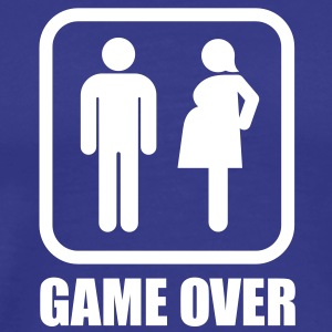 GAME OVER - pregnant T-Shirts - Men's Premium T-Shirt