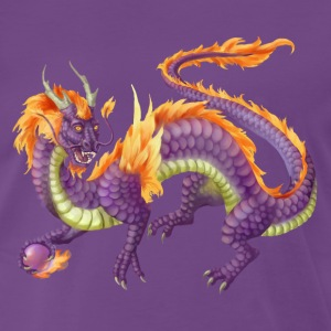 purple chinese dragon - Premium-T-shirt herr