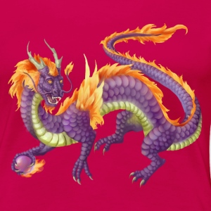 purple chinese dragon - Women's Premium T-Shirt