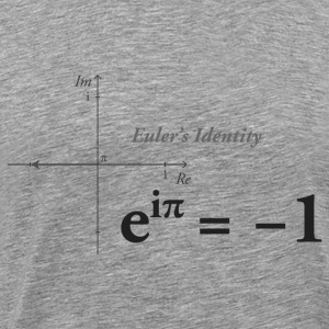 Euler's Identity Math dark - Men's Premium T-Shirt