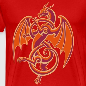 celtic dragon - Premium-T-shirt herr