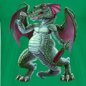 drunken dragon - Premium-T-shirt herr