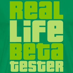Real Life Beta Tester (Lemon) - Männer Premium T-Shirt