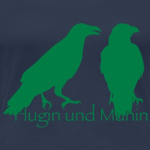 Hugin und Munin T-Shirts - Frauen Premium T-Shirt