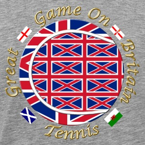 Great Britain union tennis crest T-Shirts - Men's Premium T-Shirt