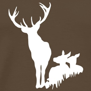 Deer family in the grass tshirt T-Shirts - Men's Premium T-Shirt