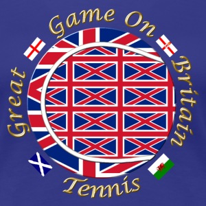 Great Britain union tennis crest T-Shirts - Women's Premium T-Shirt