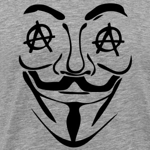 logo anarchy anonymous3 masque mask Tee shirts - T-shirt Premium Homme