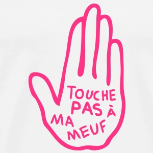 touche pas chatte meuf fille main stop Tee shirts - T-shirt Premium Homme