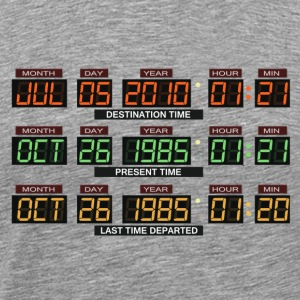Back to the future Car board - Men's Premium T-Shirt