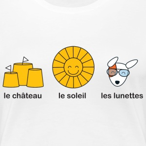 French course for sunny summer beach weather T-Shirts - Women's Premium T-Shirt