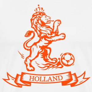 Vintage Dutch Football lion Holland jersey T-Shirts - Men's Premium T-Shirt