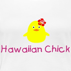 hawaiian chick - Frauen Premium T-Shirt