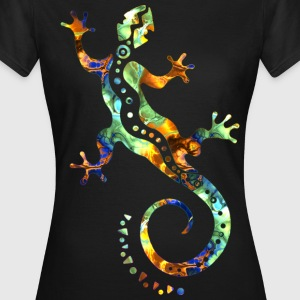 GECKO ABSTRAKT bunt | Frauen Shirt Girlie Style - Frauen T-Shirt