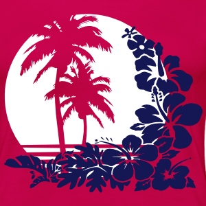 palm sunset T-Shirts - Frauen Premium T-Shirt