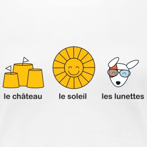 French course for sunny summer beach weather T-shirts - Premium-T-shirt dam