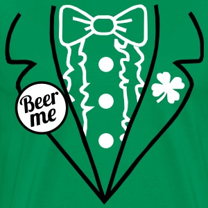 Irish Leprechaun Tuxedo T-Shirt - Men's Premium T-Shirt