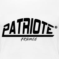 Motif ~ Tee-shirt blanc PATRIOTE FEMME