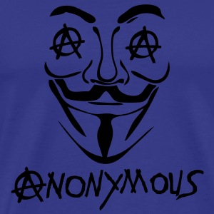 logo anarchy anonymous2 masque mask Tee shirts - T-shirt Premium Homme