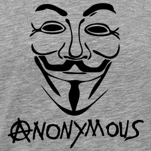 logo anarchy anonymous masque mask Tee shirts - T-shirt Premium Homme