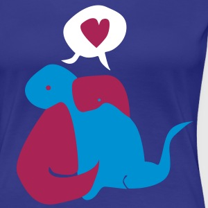 Dinosaur Couple T-Shirts - Women's Premium T-Shirt
