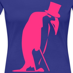 Top-Hat Penguin  T-Shirts - Women's Premium T-Shirt
