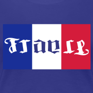 Motif ~ Supportrice tricolore bleu blanc rouge
