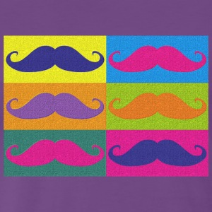 moustaches pop art Tee shirts - Herre premium T-shirt