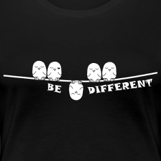 be_different_weiss T-Shirts