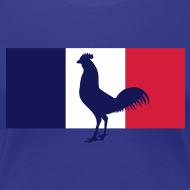 Motif ~ Supportrice française drapeau coq gaulois