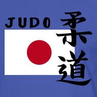 Motiv ~ T-Shirt mit Japanflagge Judo