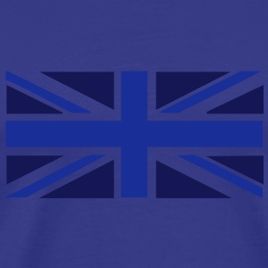 Blue on blue Union Jack t-shirt - Men's Premium T-Shirt