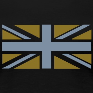 Gold and silver metallic Union Jack t-shirt - Women's Premium T-Shirt