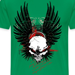 Cyber Punk Winged Skull T-Shirts - Men's Premium T-Shirt