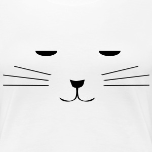 sleepy kitty, sleeping cat vector T-Shirts - Women's Premium T-Shirt