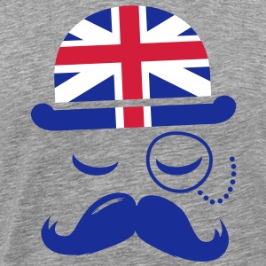 Vintage English Gentleman with Moustache T-Shirts - Men's Premium T-Shirt