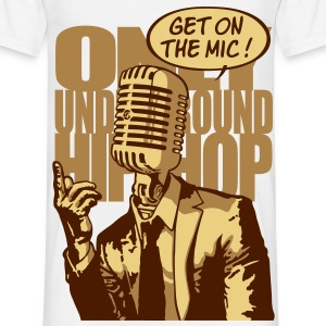 Get on the mic ! marron - T-shirt Homme