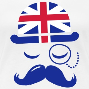 Vintage English Gentleman with Moustache T-Shirts - Women's Premium T-Shirt