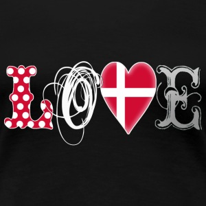 Love Denmark White - Frauen Premium T-Shirt