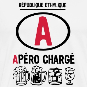 permis a picoler alcool apero charge ver Tee shirts - T-shirt Premium Homme