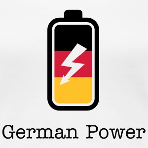 German Power | Batterie | charged T-Shirts - Dame premium T-shirt