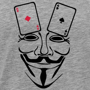 anonymous mask masque carte poker as1 Tee shirts - T-shirt Premium Homme