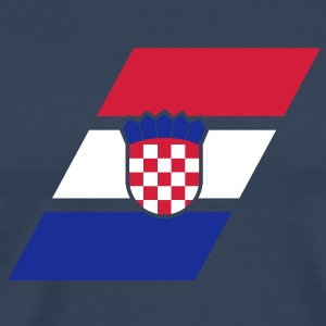 croatia stripe flag T-shirts - Mannen Premium T-shirt