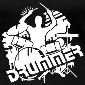 A DRUMMER ON HIS DRUMS T-Shirts - Women's Premium T-Shirt